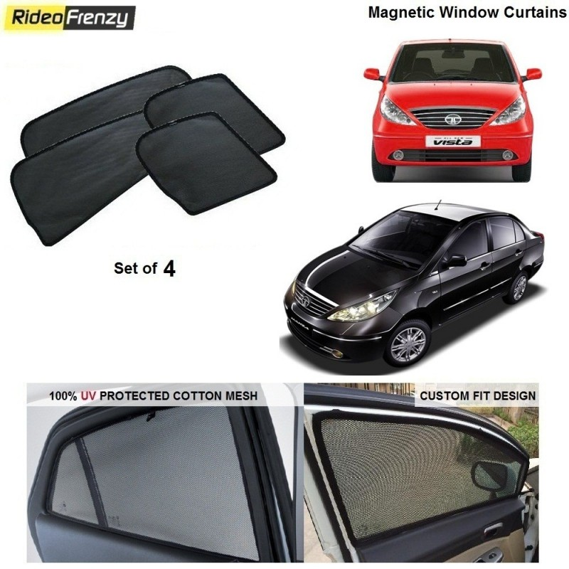 Buy Indica Vista/Manza Magnetic Car Window Sunshades online at low prices-RideoFrenzy