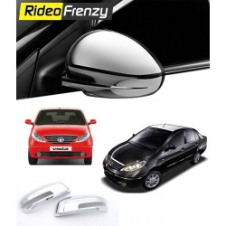 Buy Tata Indica Vista/Manza Chrome Side Mirror Covers online at low prices-RideoFrenzy