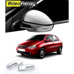 Buy Premium Tata Indigo Chrome Mirror Covers online at low prices-RideoFrenzy