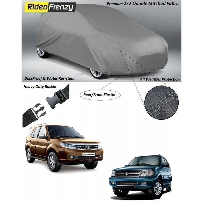 Buy Heavy Duty Tata Safari Car Body Covers online at low prices-RideoFrenzy