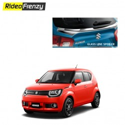 Buy Maruti Ignis Rear Glass Line Chrome Spoiler online at Low prices-RideoFrenzy