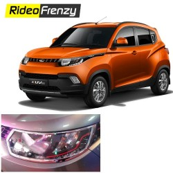 Buy Mahindra KUV100 Chrome Head light Covers online at low prices-RideoFrenzy