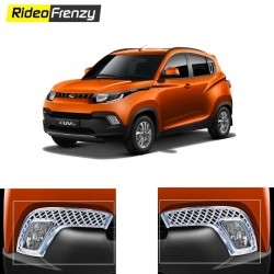 Buy Mahindra KUV100 Chrome Fog Lamp Covers online at low prices-RideoFrenzy