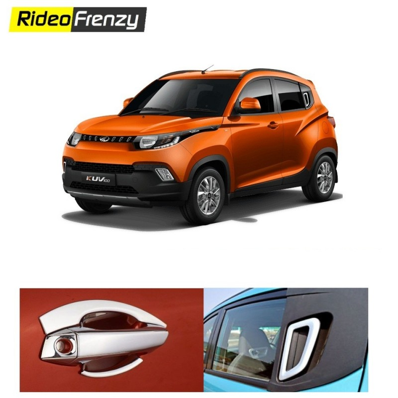 Buy Mahindra KUV100 Chrome Handle Covers online at low prices-RideoFrenzy