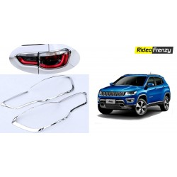 Buy Jeep Compass Chrome Tail Light Covers online at low prices-RideoFrenzy