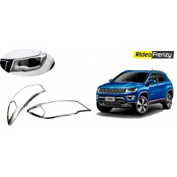 Buy Jeep Compass Chrome Head Light Covers online at low prices-RideoFrenzy