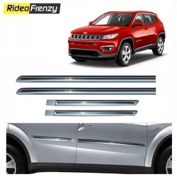 Buy Jeep Compass Silver Chromed Side beading at low prices-RideoFrenzy