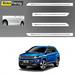 Buy Jeep Compass White Chromed Side beading at low prices-RideoFrenzy