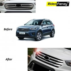 Buy Hyundai Creta Original OEM Chrome Grill Covers at low prices-RideoFrenzy