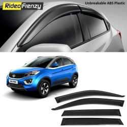 Buy Unbreakable Tata Nexon Door Visors in ABS Plastic at low prices-RideoFrenzy