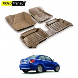 Buy New Dzire 2017 Full Bucket 5D Crocodile Floor Mats online at low prices-Rideofrenzy