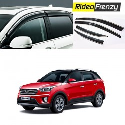 Buy Hyundai Creta Chrome Line Door Visors in ABS Plastic at low prices-RideoFrenzy