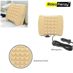 Buy Beige Car Seat Vibrating Massage Cushion | 12V Plug & Play