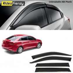 Buy Unbreakable New Verna 2017 Door Visors in ABS Plastic at low prices-RideoFrenzy