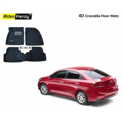 Buy Ultra Light New Verna 2017 Bucket 4D Crocodile Floor Mats at low prices-RideoFrenzy