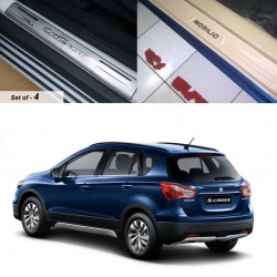 Buy Maruti SCross Door Stainless Steel Sill Plates at low prices-RideoFrenzy