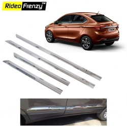 Buy Stainless Steel Tata Tigor Chrome Side Beading at low prices-RideoFrenzy