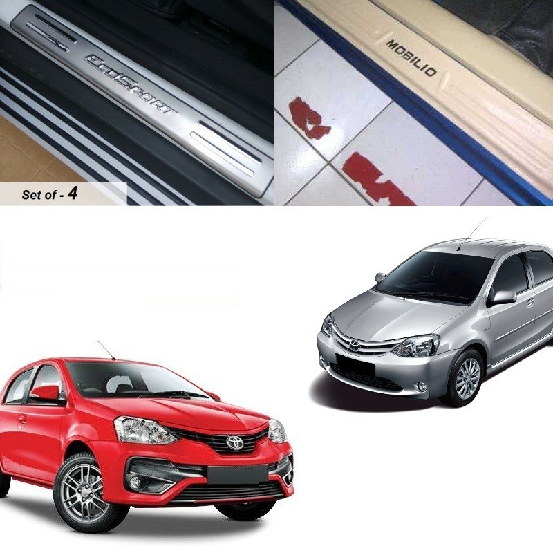 Buy Toyota Etios Liva Stainless Steel Sill Plate online at low prices-Rideofrenzy
