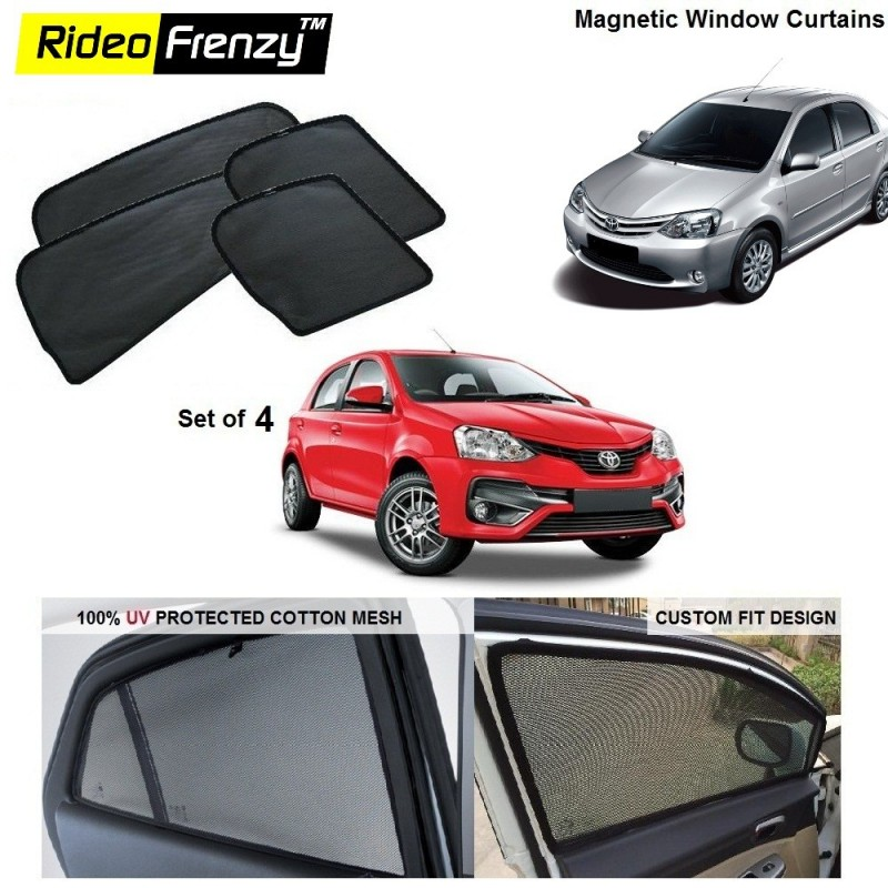 Buy Toyota Etios Liva/Etios/Cross Magnetic Car Window Sunshade online at low prices-Rideofrenzy