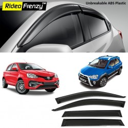 Buy Unbreakable Toyota Etios,Liva & Etios Cross Door Visors in ABS Plastic at low prices-RideoFrenzy