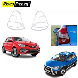 Buy Toyota Etios Liva & Etios Cross Chrome Tail Light Cover online at low prices-Rideofrenzy