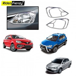 Buy Premium Quality Toyota Etios,Liva & Etios Cross Chrome Head Light online at low prices-Rideofrenzy