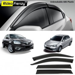 Buy Unbreakable Toyota Etios Door Visors in ABS Plastic at low prices-RideoFrenzy