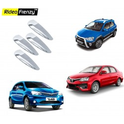 Buy Toyota Etios Liva/Etios/Cross Door Chrome Handle Cover online at low prices-Rideofrenzy