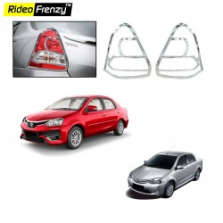 Buy Premium Quality Toyota Etios Chrome Tail Light Covers online at low prices-Rideofrenzy