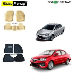 Buy Ultra Light Toyota Etios Bucket 4D Floor Mats online at low prices-Rideofrenzy