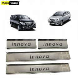 Buy Toyota Innova Stainless Steel Sill Plates online at low prices-Rideofrenzy