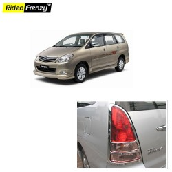 Buy Chrome Tail Light Cover for Toyota Innova 2nd Gen online at low prices-Rideofrenzy