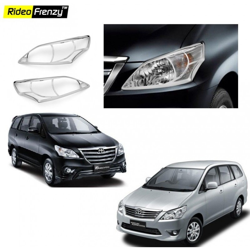 Buy Toyota Innova Chrome HeadLight Covers online at low prices-Rideofrenzy