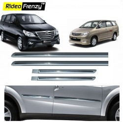 Buy Toyota Innova Silver Chromed Side Beading online at low prices-Rideofrenzy