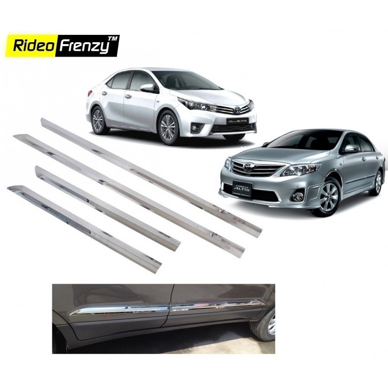 Buy Stainless Steel Toyota Corolla Altis Chrome Side Beading online at low prices-Rideofrenzy