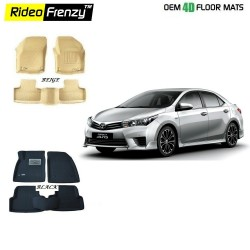 Buy Ultra Light Toyota New Corolla Altis Bucket 4D Crocodile Floor Mats Online at low prices-Rideofrenzy