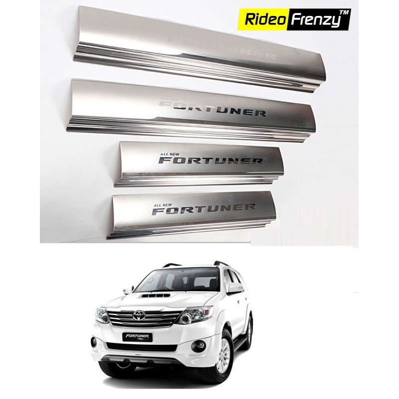 Buy Original OEM Toyota Fortuner Door Stainless Steel Sill Plate online at low prices-Rideofrenzy