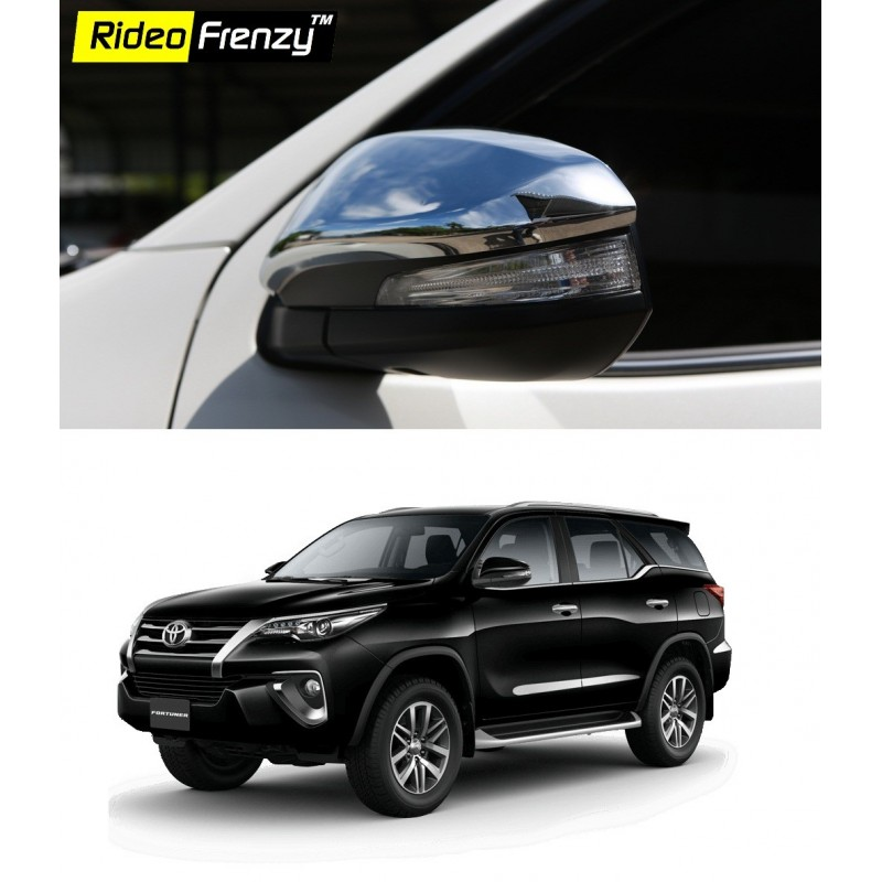 Buy New Toyota Fortuner 2017 Chrome Mirror Covers online at low prices-Rideofrenzy