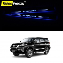 Buy New Toyota Fortuner Stainless Steel Sill Plate with Blue LED online at low prices-Rideofrenzy
