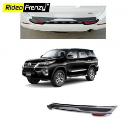 Buy Toyota New Fortuner Rear Foot Plate Chrome online at low prices-Rideofrenzy