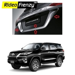 Buy New Toyota Fortuner Chrome Number Plate Garnish U online at low prices-Rideofrenzy