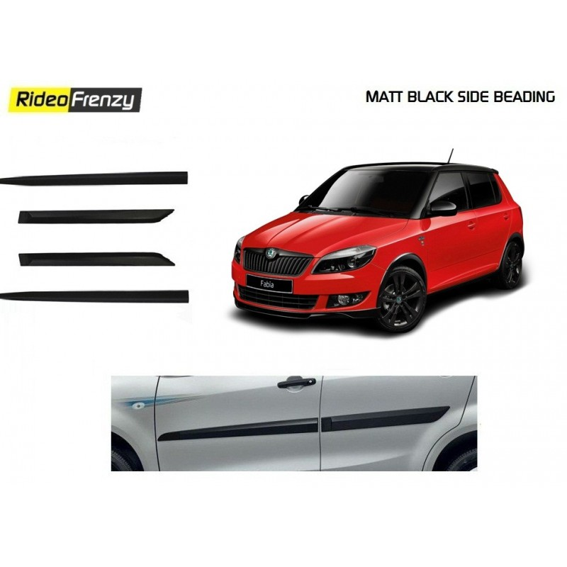 Buy Skoda Fabia Original Black Side Beading online at low prices-Rideofrenzy