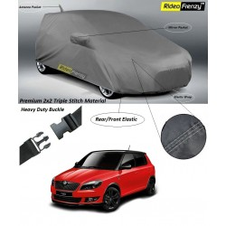 Buy Premium Skoda Fabia Car Covers with Mirror & Antenna Pocket at low prices-Rideofrenzy