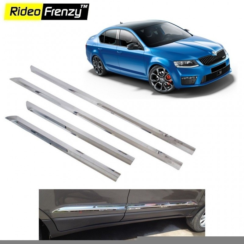Buy Stainless Steel Skoda Octavia Chrome Side Beading online at low prices-Rideofrenzy