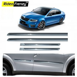 Buy Skoda Octavia Silver Chromed Side Beading online at low prices-Rideofrenzy