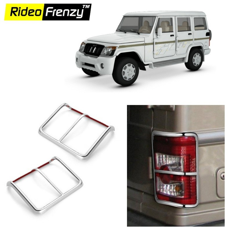 Buy Mahindra Bolero Chrome Tail Light Covers online at low prices-Rideofrenzy