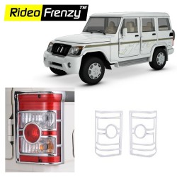 Buy New Mahindra Bolero Chrome Tail Light Cover online at low prices-Rideofrenzy