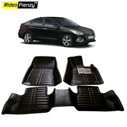 Buy New Hyundai Verna Full Bucket 5D Crocodile Floor Mats online at low prices-Rideofrenzy
