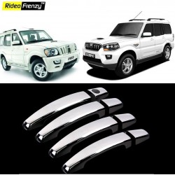 Buy Mahindra Scorpio Door Chrome Handle Covers online at low prices-Rideofrenzy