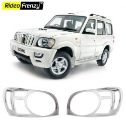 Buy Mahindra Scorpio Chrome HeadLight Covers online at low prices-Rideofrenzy